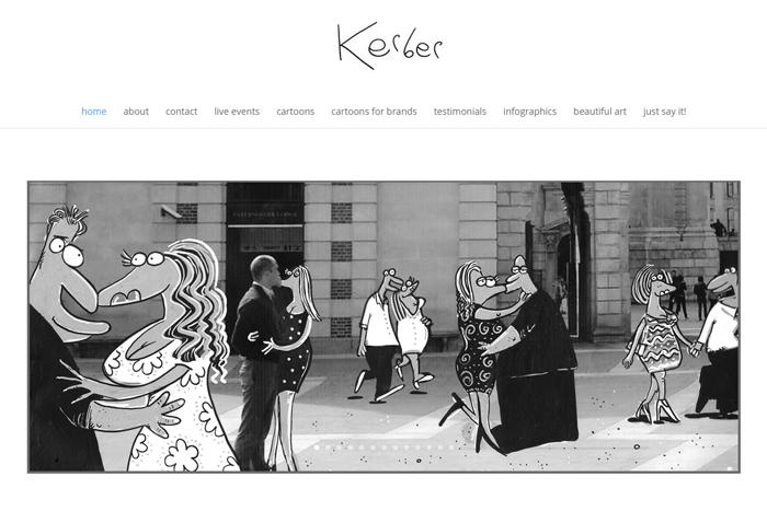 Cartoonist Neil Kerber