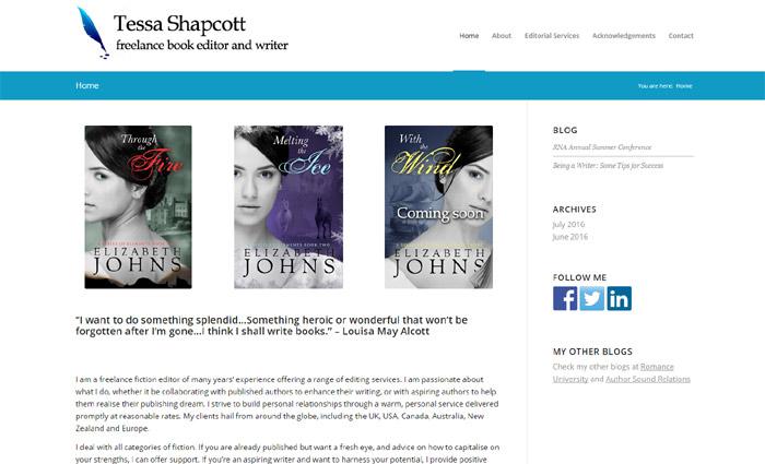 Tessa Shapcott Book Editor